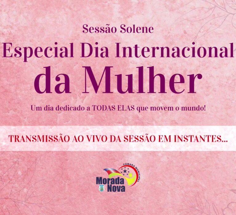 Sessão Solene Especial Dia Internacional da Mulher