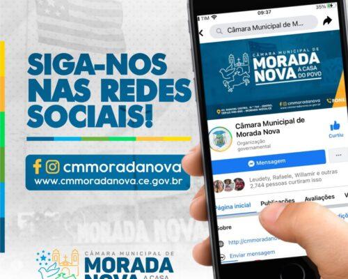 Redes sociais da Câmara